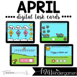 Spring Boom Cards™ for Kindergarten