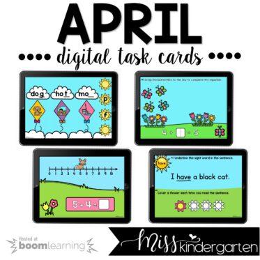 Spring Boom Cards™ for Kindergarten