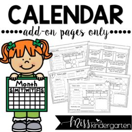 Interactive Calendar Notebook {ADD-ON PACK ONLY}