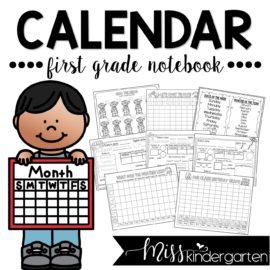 Calendar Math Notebook for First Grade