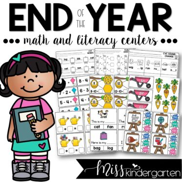 End of the Year Math and Literacy Centers