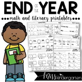 End of the Year Print and Go Printables