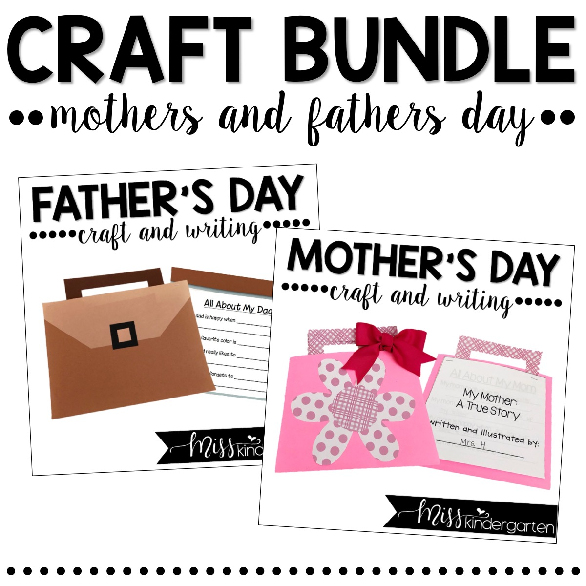 Mother's Day and Father's Day gift ideas made by students