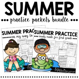 Summer Packet Kindergarten and First Grade Bundle