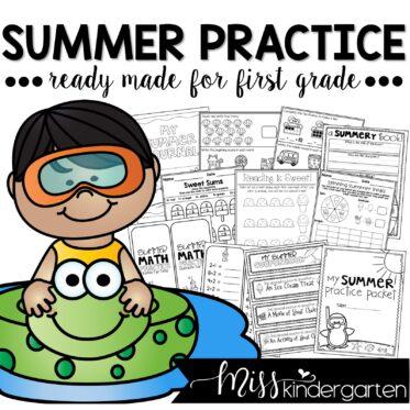 Kindergarten Summer Review Packet   Summer Practice of Kindergarten Skills