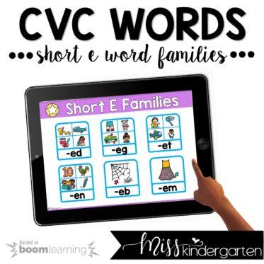 CVC Boom Cards™ | Short E Practice Activities