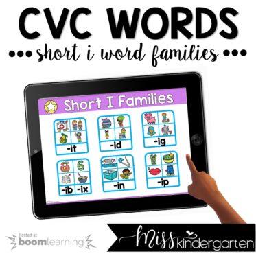 CVC Boom Cards™ | Short I Practice Activities
