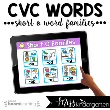 CVC Boom Cards™ | Short O Practice Activities