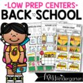 these school themed centers are the perfect addition to your back to school center plans