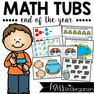 Math Morning Tubs for the End of the Year