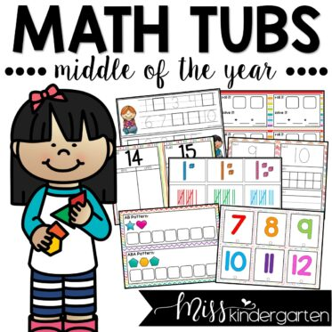 Math Morning Tubs for the Middle of the Year