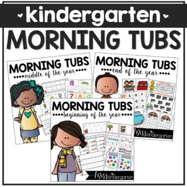 Kindergarten Morning Tubs Math and Literacy Bundle