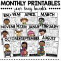 Kindergarten Math and Literacy Printables BUNDLE