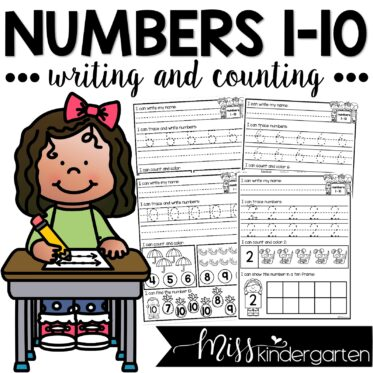 Numbers 1-10 | Counting and Writing Practice Worksheets