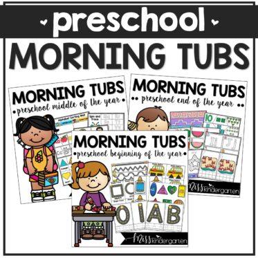 PreK / Preschool Morning Work Tubs Full Year Bundle