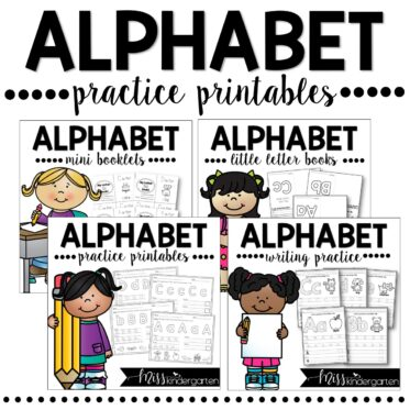 Alphabet Tracing and Writing Practice Printables