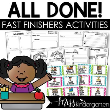 Classroom Management Tool Fast Finishers Activities