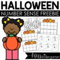 Halloween Number Sense Center Freebie