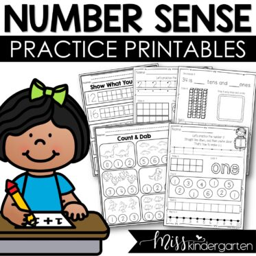 Kindergarten Math Number Sense Worksheets