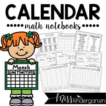 Calendar Math Notebook for Kindergarten and First Grade (Spanish Version Included)