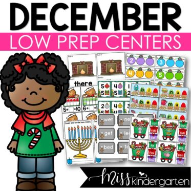 Low Prep December Centers   Math and Literacy