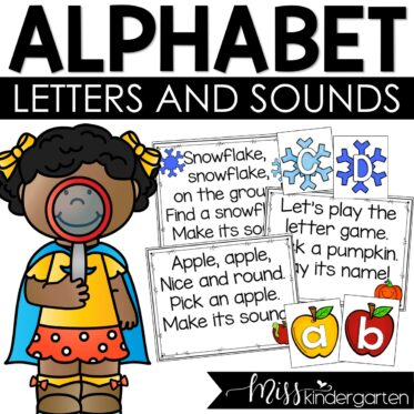Alphabet Sounds and Alphabet Letters Practice Full Year Chants and Poems