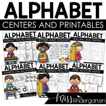 Alphabet Centers and Printables for the entire school year