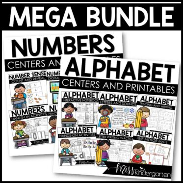 Alphabet Practice and Numbers Practice Centers and Printables {Mega Bundle}