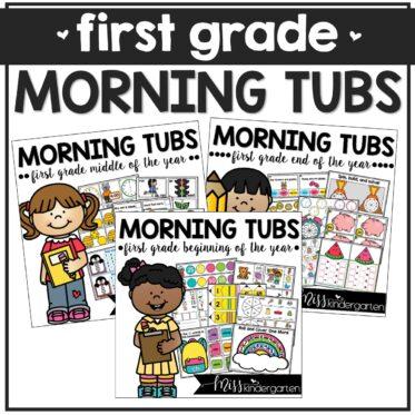 First Grade Morning Tubs Math & Literacy Activities