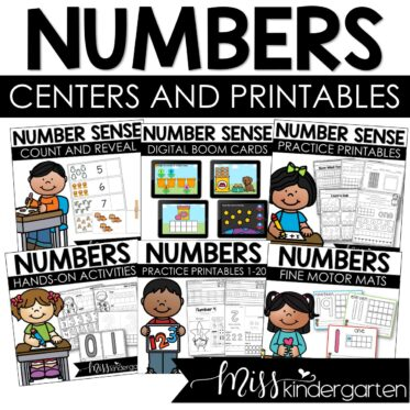 Number Centers and Number Printables Bundle