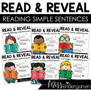 Read and Reveal | Reading Simple Sentences Bundle